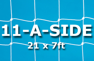 Junior 11-a-side Goal Nets (21 x 7ft / 6.4 x 2.13m)