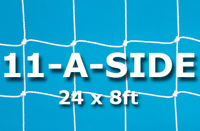 Senior 11-a-side Goal Nets (24 x 8ft / 7.32 x 2.44m)