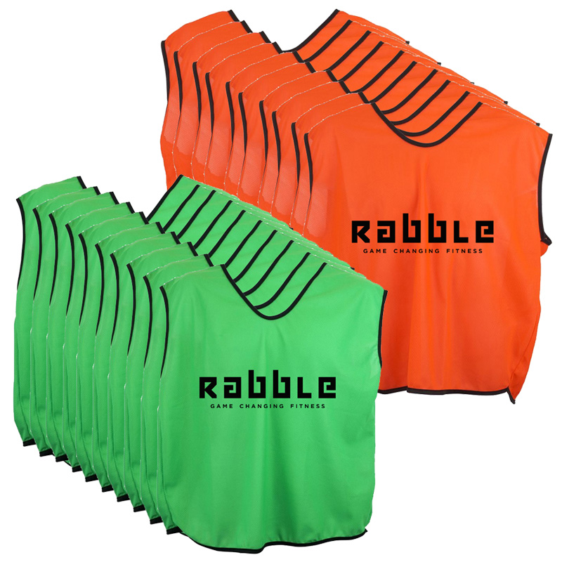 Rabble Branded Sports Bibs (Pack of 20)