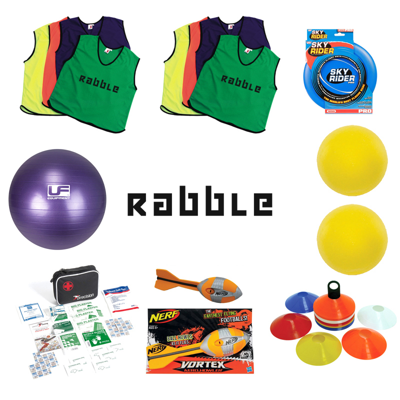 Rabble Game Equipment (with branded bibs)
