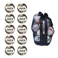 Ball Sack of 10 Mitre Impel Training Footballs