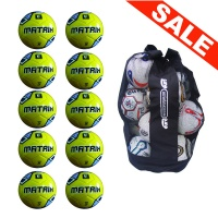 Ball Sack of 10 iPro Matrix Training Footballs Fluo Yellow (Size 3, 4, 5)