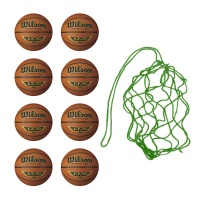 Net of 8 Wilson MVP Basketballs ( Sizes: 5,6,7)