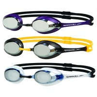 Speedo Merit Mirror Competition Racing Swimming Goggles