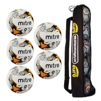 Mitre Ultimatch Hyperseam Tube of 5 Footballs (Sizes 3,4,5)