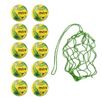 Net of 10 Soft Touch Mitre  Impel Fluo Training Balls