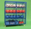 Ball Cabinet: Blue, Silver, Red