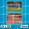Harrod 3mm White Box Profile Nets for Socketed & Fence Folding Football Goals (24 x 8ft / 7.32 x 2.44m) FBL310 (Pair)