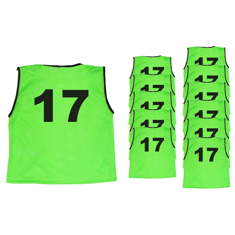 Mesh Numbered Bibs (Set of 11 Bibs)
