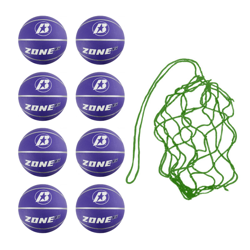 Net of 8 Baden Zone Basketballs Size 6 (Purple)