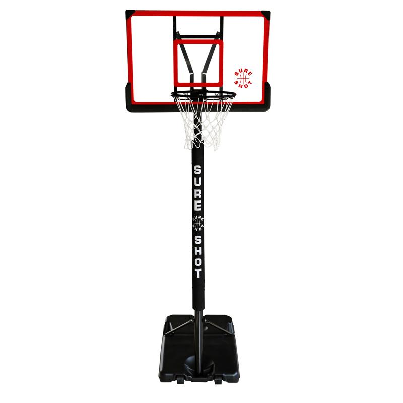 Sure Shot 514 Portable Basketball Unit With Acryli Backboard and Pole Padding