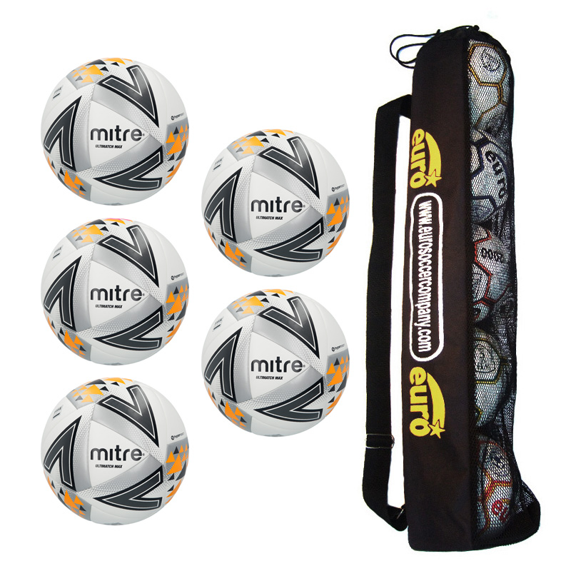 Tube of 5 Mitre Ultimatch Max Match Balls