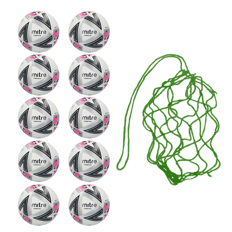 Net of 10 x Mitre Ultimatch Plus Match Balls