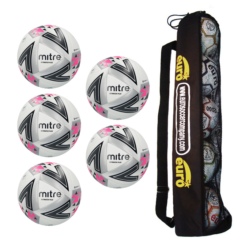 Tube of 5 x Mitre Ultimatch Plus Match Balls