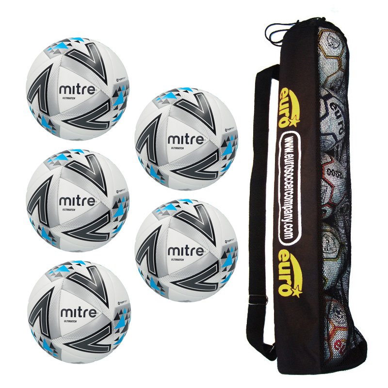 Tube of 5 x Mitre Ultimatch Core Match Balls