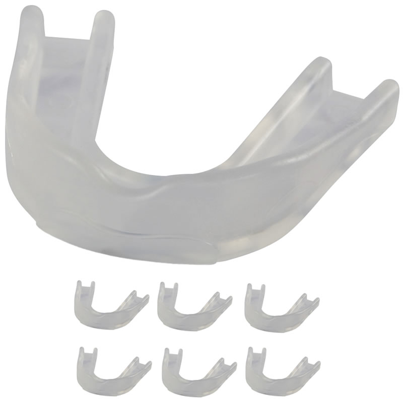 Precision Clear Mouthguards (Pack of 6)