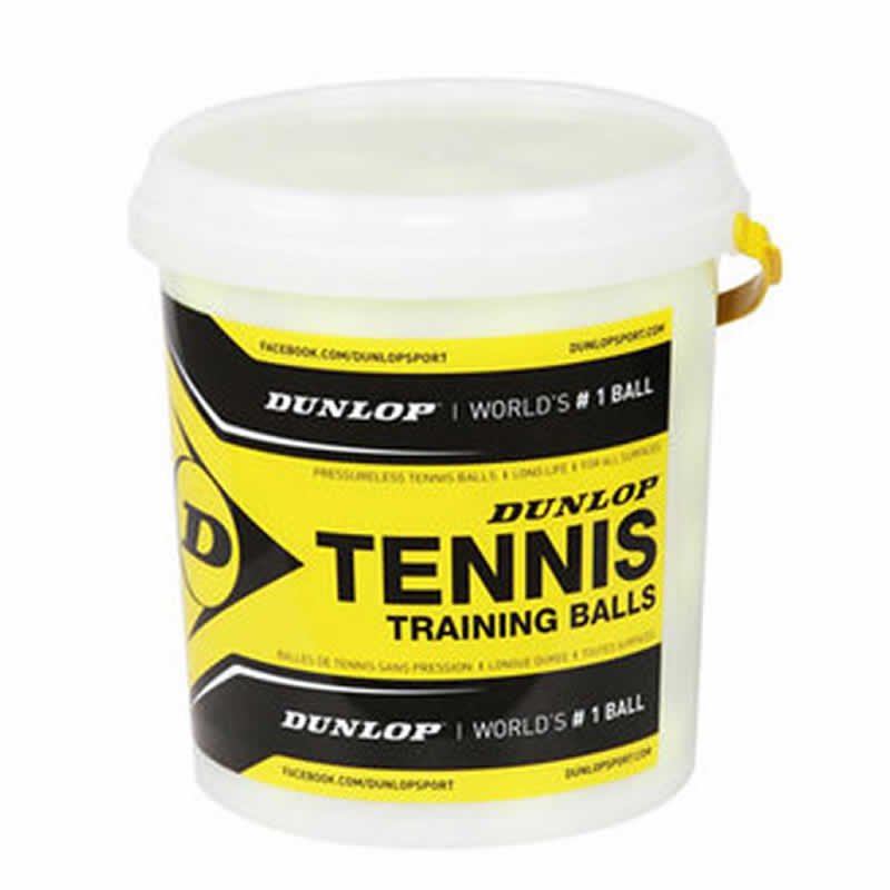 Dunlop Tub of 60 Coaching Quality / Training Tennis Balls