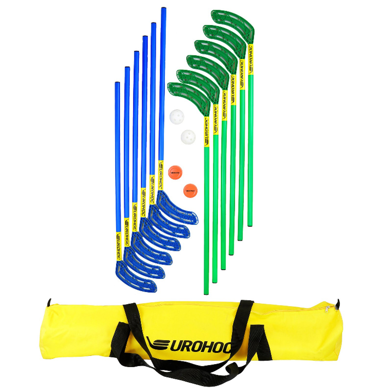 Eurohoc Floorball Standard Hockey Set with Bag or Stick only