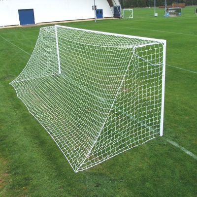 Harrod Heavyweight Socketed Steel 60mm Round Football Goal Posts (24 x 8ft / 7.32 x 2.44m) FBL047 (Pair)