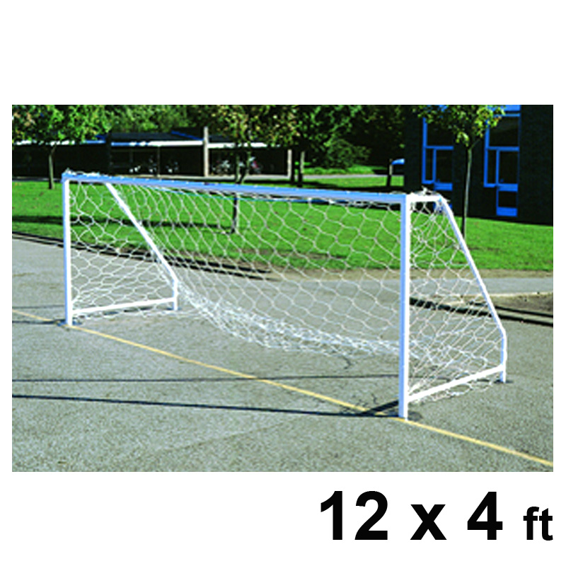 Harrod FS6 Permanent Steel Football Goal Posts (12 x 4ft / 3.66 x 1.22m) FBL135 (Pair)