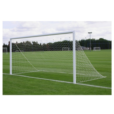 Harrod 3G Parks Socketed Aluminium Football Goal Posts - With Drop In Lids (16 x 7ft / 4.88 x 2.13m) FBL563 (Pair)