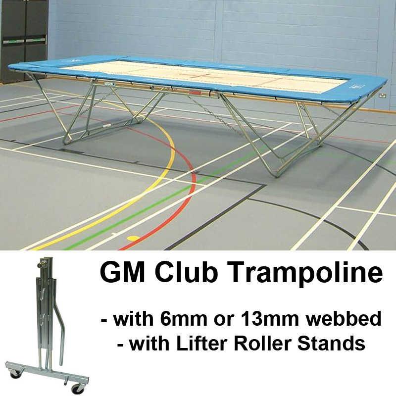 Club Trampoline with Lifter Roller Stands (GM Model)