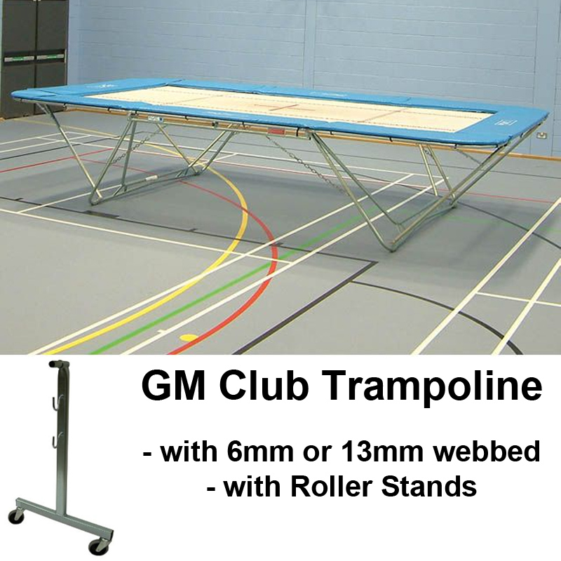Club Trampoline with Roller Stands (GM Model)