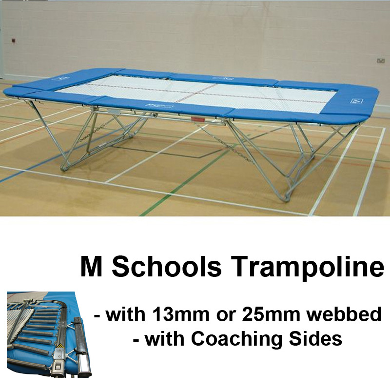 Schools Regulation Trampoline with Coaching Safety Sides (M Model)