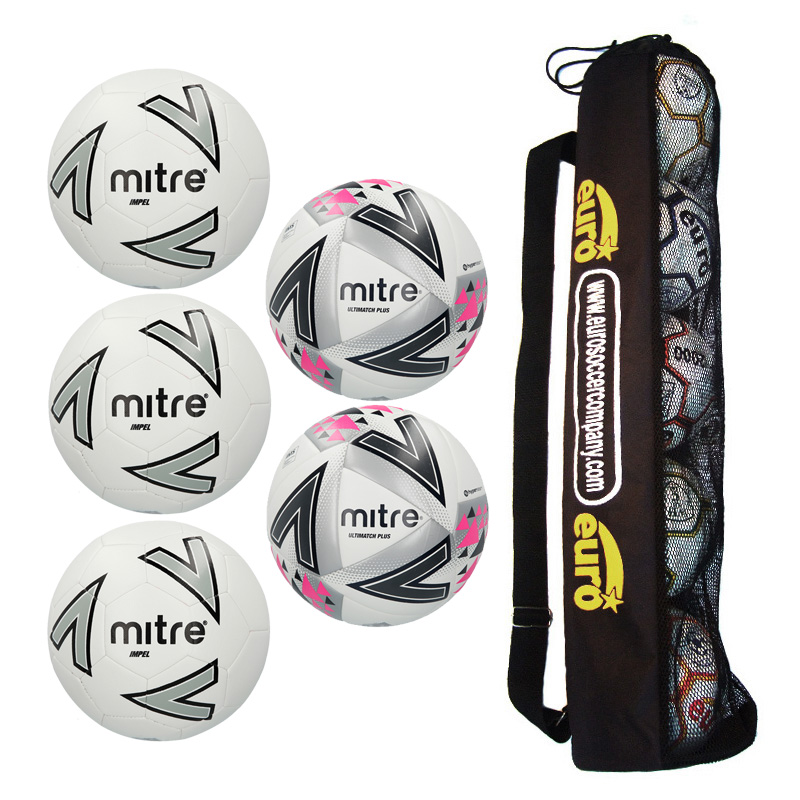 Mitre Matchday Ball Tube Bundle 1 ( 3 x Impel Core, 2 x Ultimatch Plus )