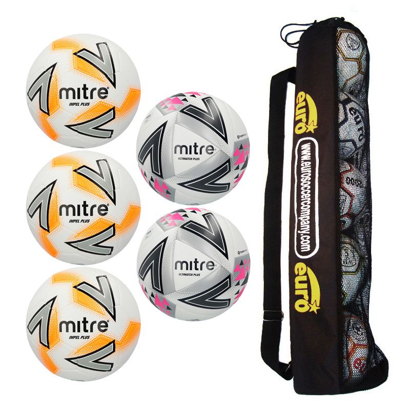 Mitre Matchday Ball Tube Bundle 2 ( 3 x Impel Plus, 2 x Ultimatch Plus)