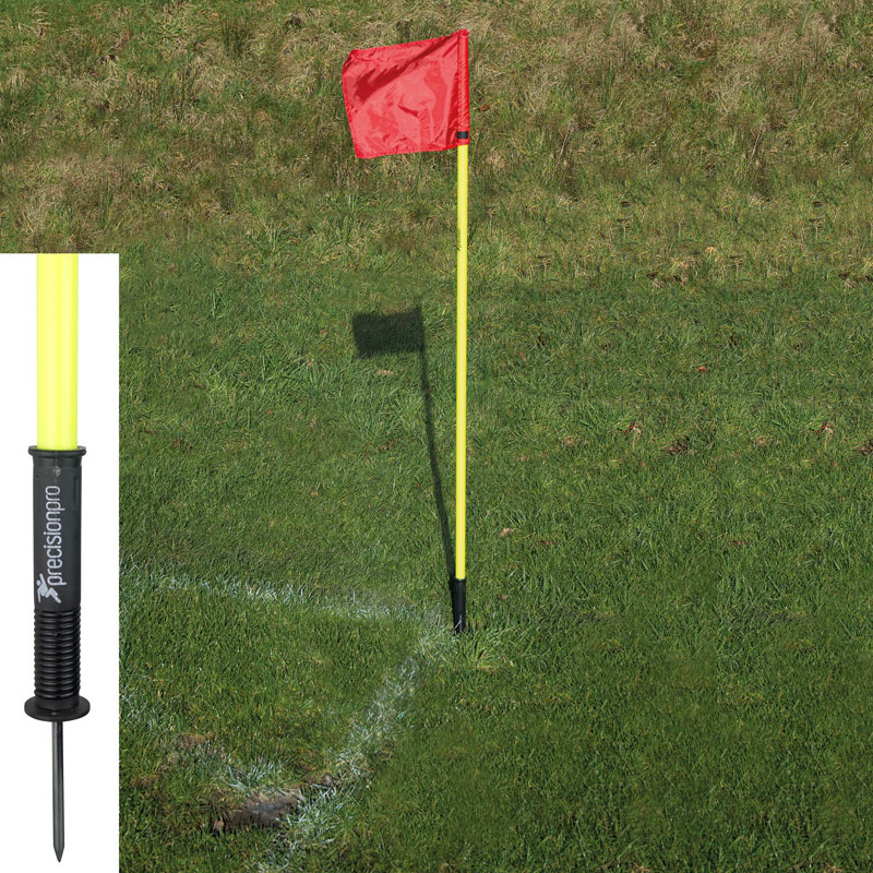 Precision Sprung Corner Posts & Red Flags (Set of 4)
