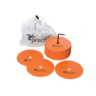 Precision Rubber Marker Discs Set of 20 (Medium - 15cm) Available in White, Yellow, Orange