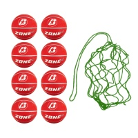 Net of 8 Baden Zone Basketballs Size 5 (Red)
