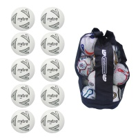 Ball Sack of 10 Mitre Impel Core Footballs