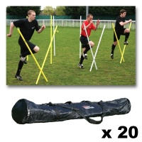 Diamond Pro Agility Pole Set (Bag of 20)