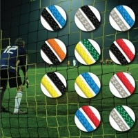 Diamond Continental Coloured Football Goal Nets for Socketed Goals (24 x 8ft / 7.32 x 2.44m) (Pair)