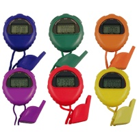 Stopwatch and Whistle Set Pack of 6
