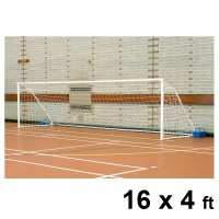 Harrod Fold-away Steel Football Goal Posts (16 x 4ft / 4.88 x 1.22m) FBL036 (Pair)
