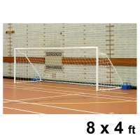 Harrod Fold-away Steel Football Goal Posts (8 x 4ft / 2.44 x 1.22m) FBL038 (Pair)