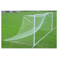 Harrod Super Heavyweight Socketed Steel 76mm Round Football Goal Posts - With Locking Sockets (24 x 8ft / 7.32 x 2.44m) FBL058 (Pair)