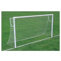Harrod Socketed Super Heavyweight 76mm Steel Round Goal Posts - With Locking Posts (12 x 6m / 3.66 x 1.83m) FBL144 (Pair)