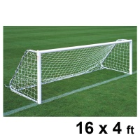 Harrod Freestanding Aluminium Football Goal Posts (16 x 4ft / 4.88 x 1.22m) FBL145 (Pair)