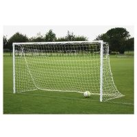 Harrod Heavyweight Socketed Steel Football Goal Posts (16 x 6ft / 4.88 x 1.83m) FBL152 (Pair)