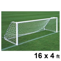 Harrod Folding Freestanding Aluminium Football Goal Posts (16 x 4ft / 4.88 x 1.22m) FBL185 (Pair)