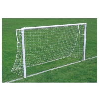 Harrod Super Heavyweight 76mm Socketed Steel Football Goal Posts - With Locking Sockets (16 x 6ft / 4.88 x 1.83m) FBL193 (Pair)