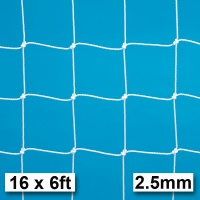 Harrod 2.5mm Socketed & Freestanding Steel Football Goal Nets (16 x 6ft / 4.88 x 1.83m) FBL363 (Pair)
