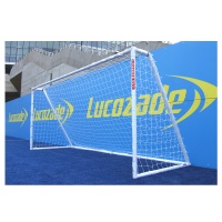 Harrod Heavy Duty Galvanised Steel Football Goal Posts (16 x 6ft / 4.88 x 1.83m) FBL510 (Pair)