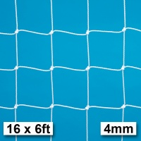 Harrod 4mm Braided Extra Heavy Duty Football Goal Nets Fits Galvanised Goal Posts (16 x 6ft / 4.88 x 1.83m) FBL520 (Pair)