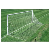 Harrod 3G Socketed Parks Aluminium Football Goal Posts for Quick Removal- With Locking Lids (24 x 8 / 7.32 x 2.44m) FBL567 (Pair)