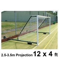 Harrod 3G Aluminium Fence Folding Football Goal Posts (2.3 - 3.5m Projection) (12 x 4ft / 3.66 x 1.22m) FBL581 (Pair)